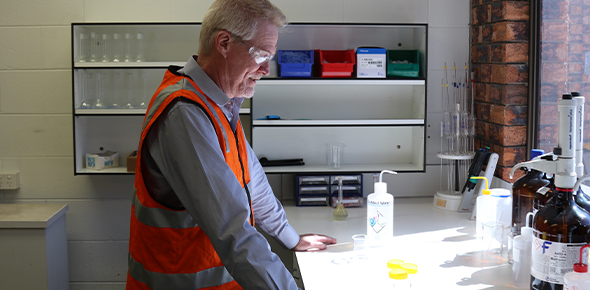 Mr Clark managing a supply chain of 2 Bayer formulation plants in AU